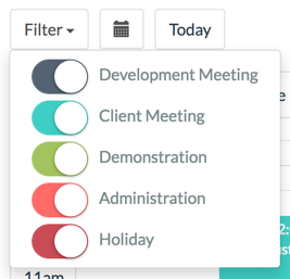 Bespoke Calendar Filters