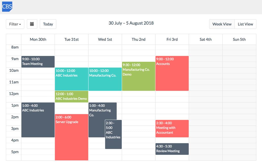 Bespoke Calendar